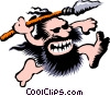 Cartoon cavemen Vector Clipart picture