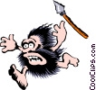 Vector Clipart graphic  of a Cartoon cavemen