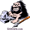 Cartoon cavemen Vector Clipart illustration