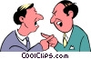 Vector Clip Art image  of a Cartoon argument