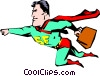 Vector Clipart image  of a Cartoon Superman