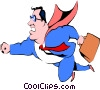 Cartoon Superman Vector Clipart graphic