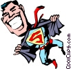 Vector Clipart graphic  of a Cartoon Super heroes