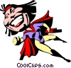 Cartoon super hero Vector Clipart illustration