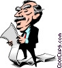 Vector Clipart picture  of a Cartoon executive