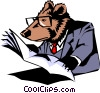 Vector Clip Art image  of a Cartoon bear