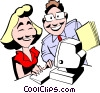 Vector Clip Art graphic  of a Cartoon man & woman at