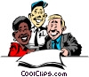 Cartoon office workers Vector Clip Art image