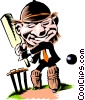 Cricket player Vector Clipart graphic