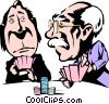 Cartoon poker players Vector Clipart illustration