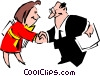 Cartoon executives Vector Clip Art image