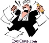 Vector Clip Art image  of a Cartoon executives