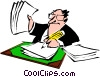 Cartoon executive Vector Clip Art picture