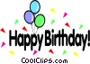 Happy birthday! Vector Clip Art image
