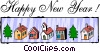 Vector Clip Art graphic  of a Happy New Year!