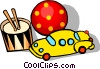 Vector Clipart illustration  of a Toys