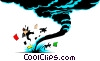 Cartoon tornado Vector Clipart illustration