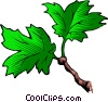 Vector Clip Art image  of a Leaves