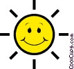 Vector Clipart graphic  of a Sunshine