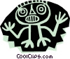 Vector Clip Art image  of an Aztec people designs