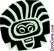 Aztec people designs Vector Clip Art picture