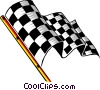 Vector Clip Art graphic  of a Checkered flag