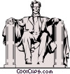 Vector Clip Art image  of a Lincoln Memorial