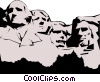 Mount Rushmore Vector Clipart picture