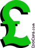 Vector Clipart graphic  of a Pound sterling