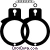 Handcuffs Vector Clipart graphic