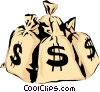 Money bags Vector Clip Art image