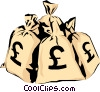 Vector Clip Art graphic  of a Moneybags