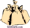Money bags Vector Clip Art graphic