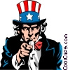 Vector Clipart picture  of a Uncle Sam