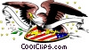 Vector Clip Art image  of a USA Eagle