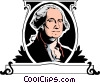 Vector Clipart image  of a George Washington