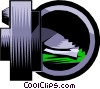 Vector Clipart graphic  of a Vault