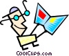Vector Clip Art image  of a Modern art guy
