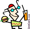 Vector Clipart graphic  of a Modern art guy
