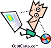 Vector Clip Art graphic  of a Modern art guy