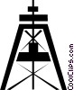 Vector Clip Art graphic  of a Well drilling
