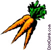 Three Carrots Vector Clipart image