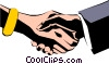 Hands shaking Vector Clipart picture