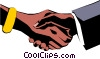 Hands shaking Vector Clipart illustration