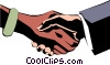 Hands shaking Vector Clip Art graphic
