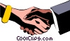 Vector Clip Art image  of a Hands shaking