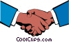 Vector Clip Art graphic  of a Hands shaking