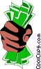 Fist full of dollars Vector Clipart image