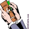 Vector Clip Art image  of a Hands with wallet