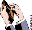 Hand with empty wallet Vector Clipart image
